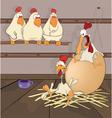 Big egg cartoon vector image