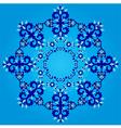 blue artistic ottoman seamless pattern series vector image
