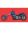 Vintage motorcycle bike vector image