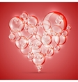 sign of love bubble soap red vector image