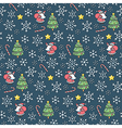 Christmas holiday pattern vector image vector image