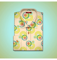 shirt into a large pattern vector image