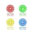 Business geometric emblem template set vector image