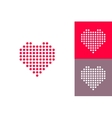Dotted heart icons set vector image