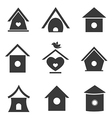 group of bird houses vector image