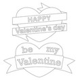 happy be my valentine day black and white poster vector image
