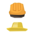 Hard hat and summer hat vector image