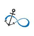 infinity anchor symbol of sailors vector image