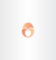 little bird twin in egg logo vector image