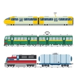 Modern and vintage trains collection vector image