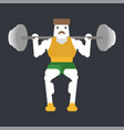 squat with a barbell vector image