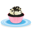 cake in a dish vector image vector image