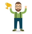 Man with cup vector image