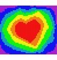 valentine rainbow heart vector image