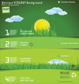 Modern ecology design layout vector image