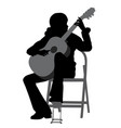 young woman playing acoustic guitar vector image vector image