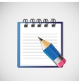 notebook with clean sheets un pencil vector image
