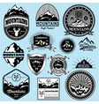 set of templates for emblems with different vector image vector image