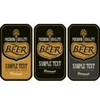 set labels for beer vector image