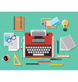 Editor workplace vector image