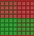 set of new year patterns with tartan and snowflake vector image