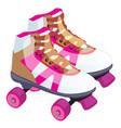 skate retro design a roller skate classic vector image