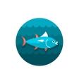 Tuna icon Fishing Vacation vector image
