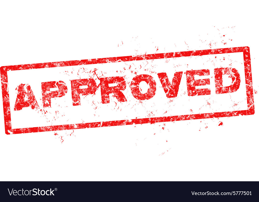Approved red stamp vector