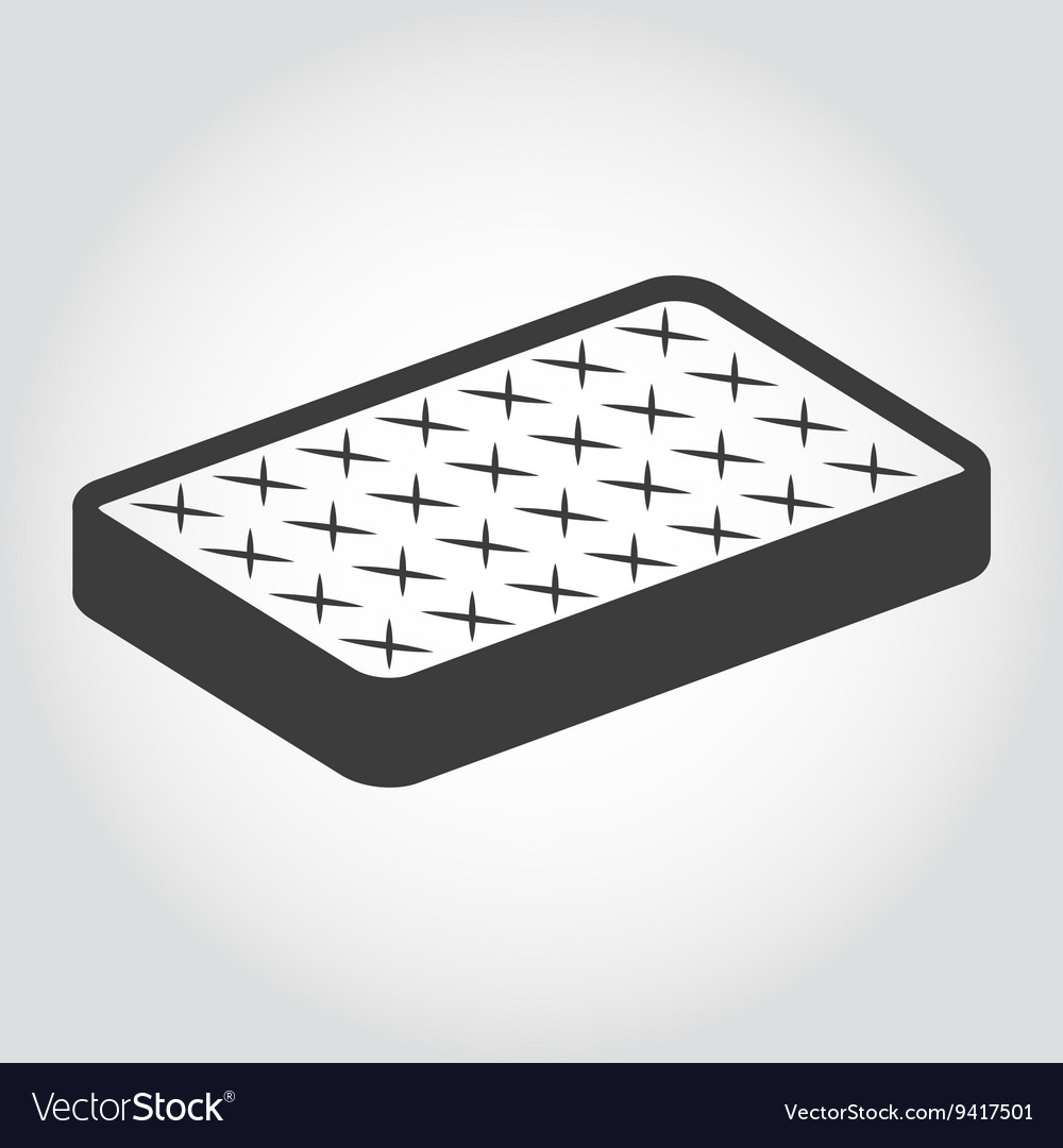 Black mattress icon vector