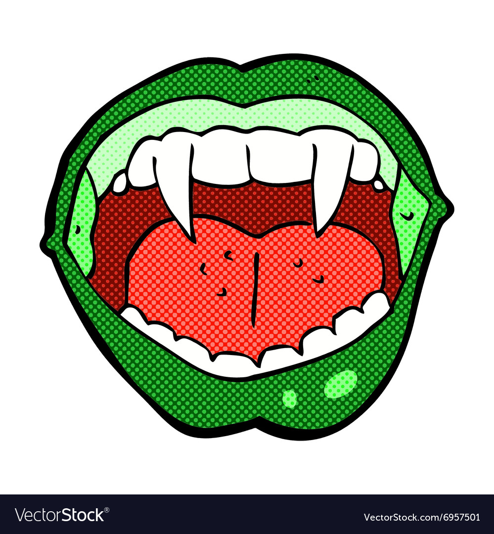 Comic cartoon vampire mouth vector