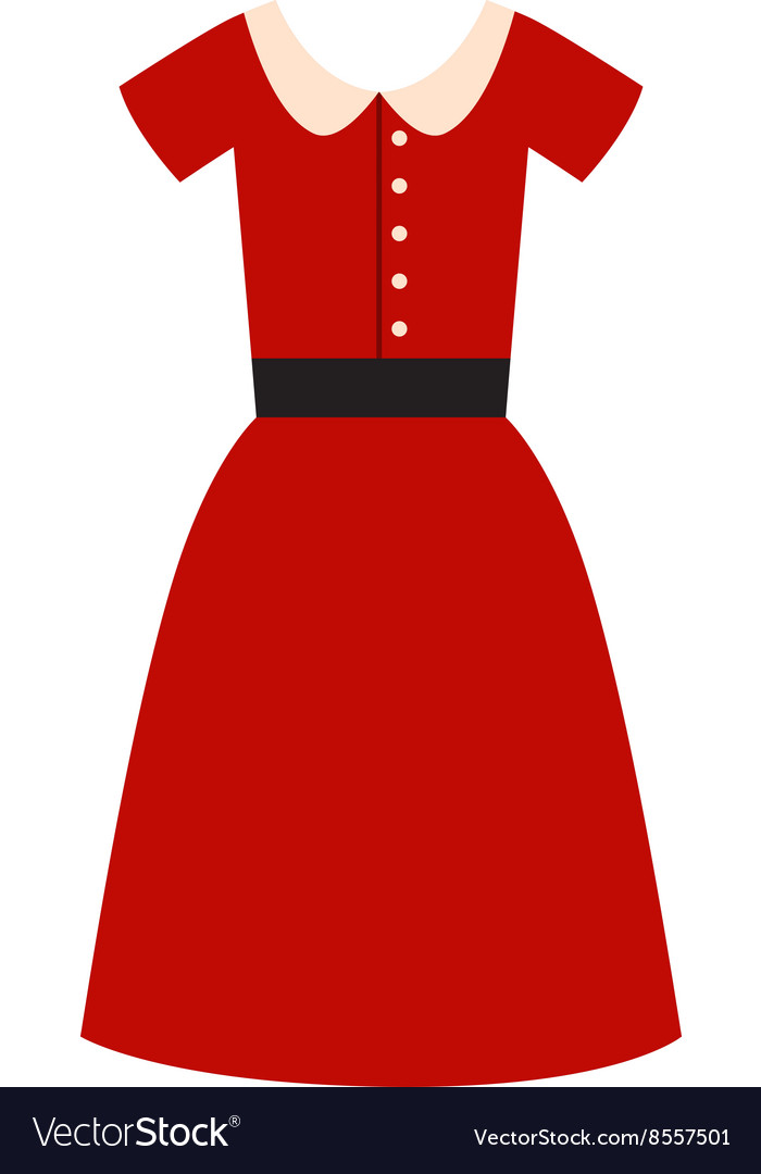 Romantic model elegance red dress fashion vector