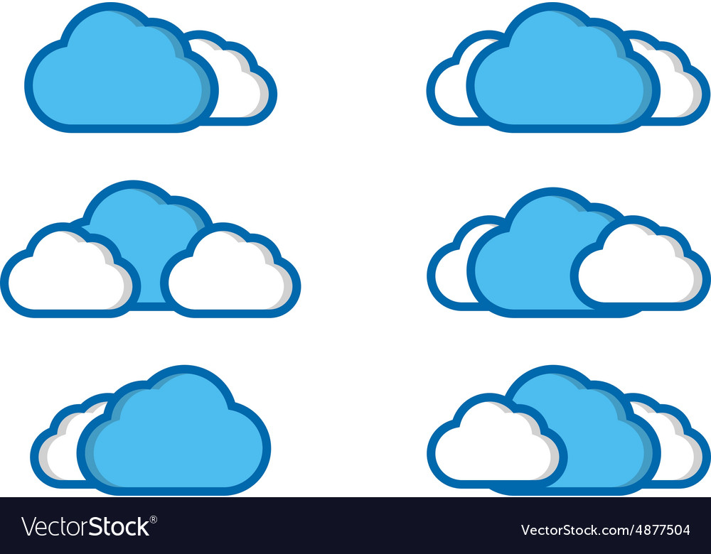 Clouds collection vector