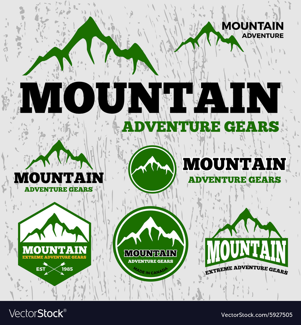 Premium mountain adventure logo vector