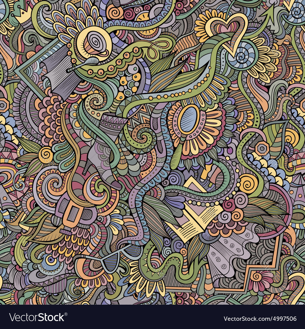 Seamless pattern female fashion things vector