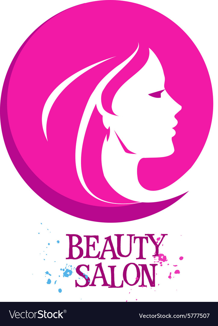 Beautiful woman female logo design vector