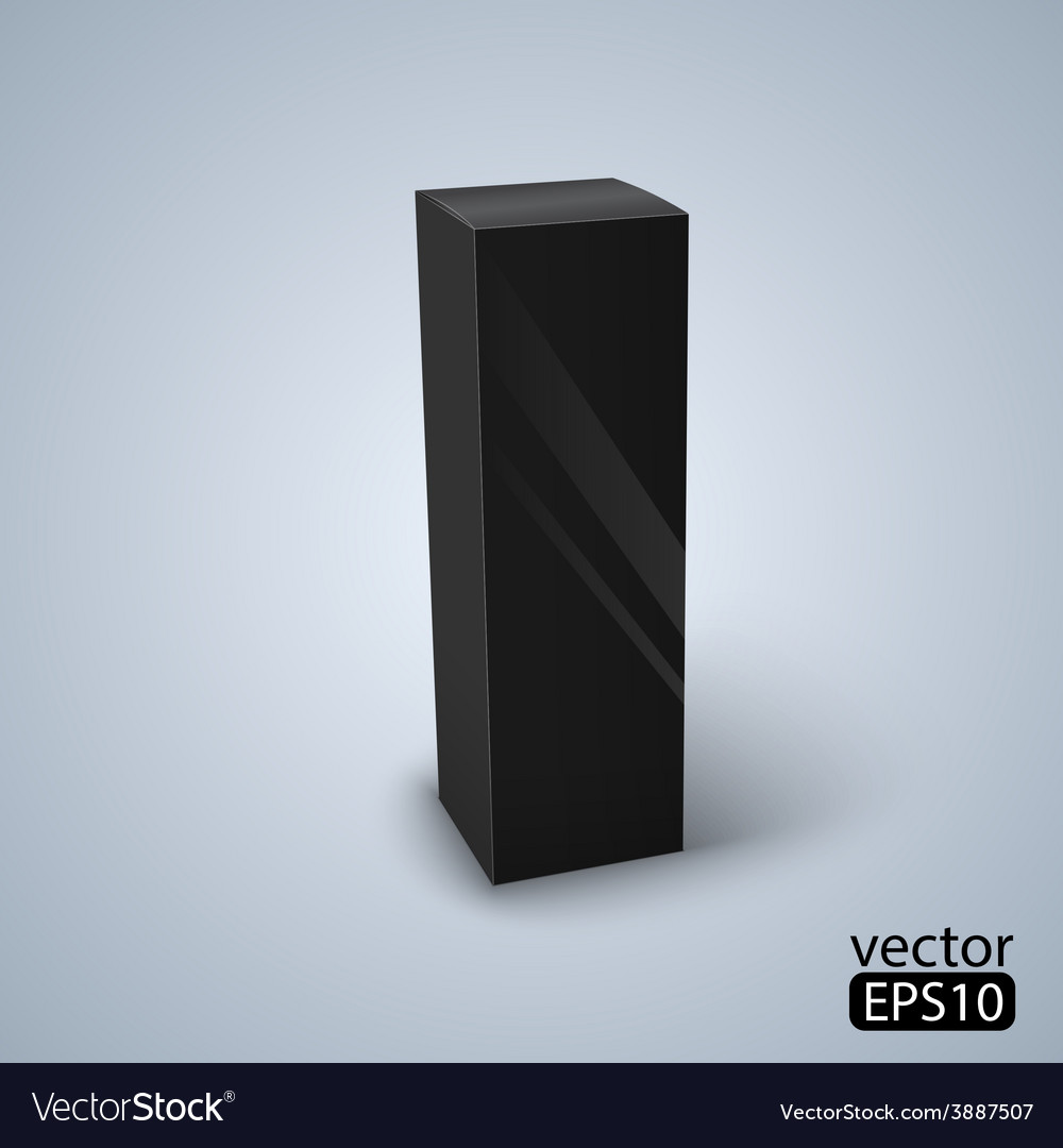 Package black box design vector