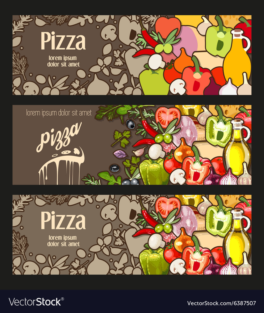 Pizza flyer vector