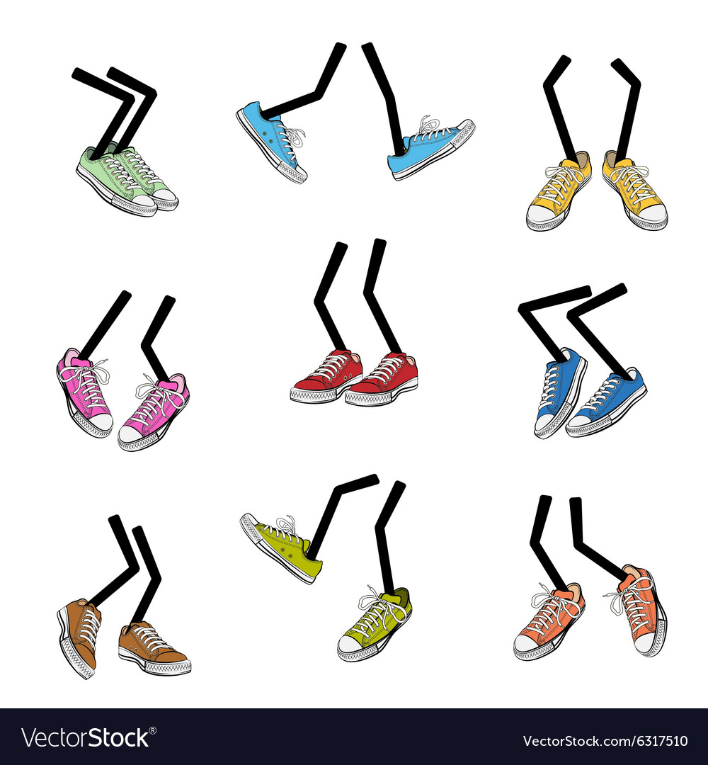 Cartoon walking feet vector