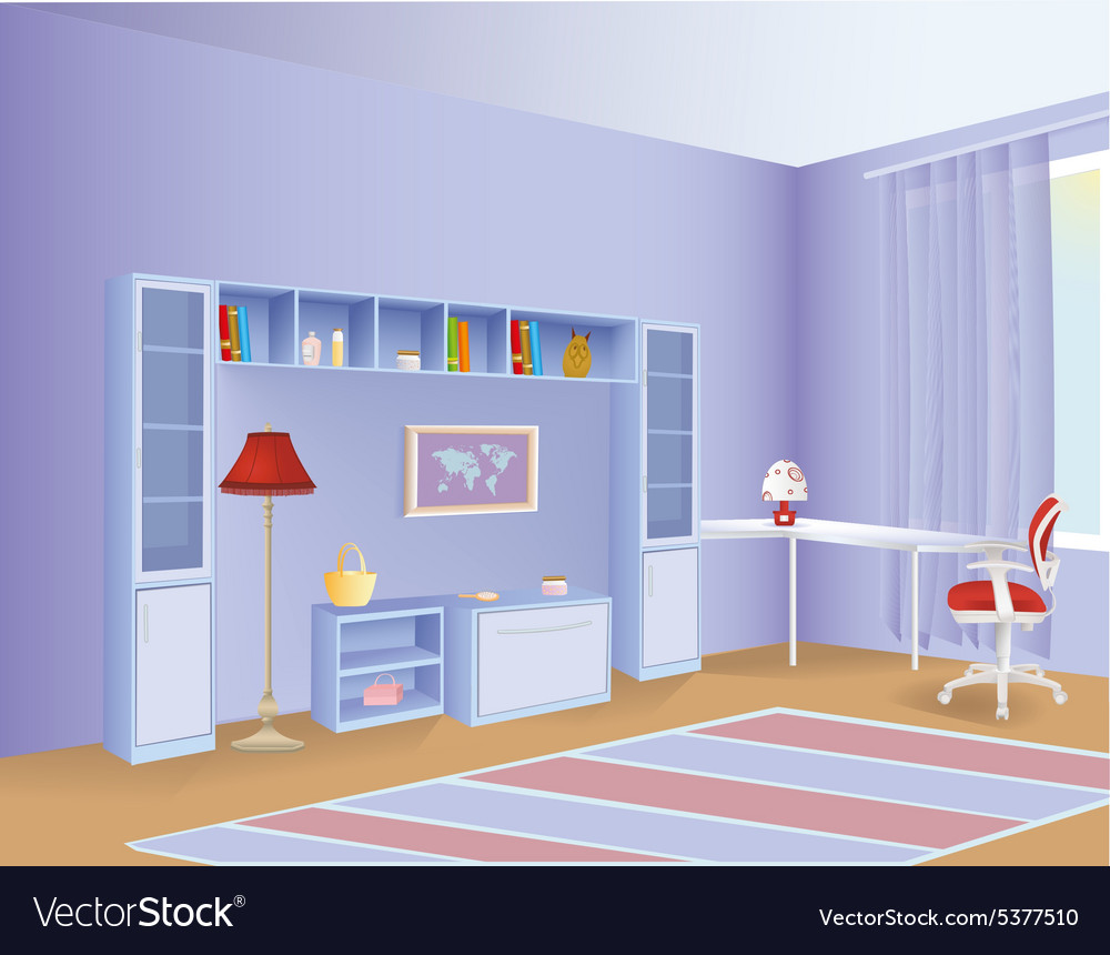 Kid room vector