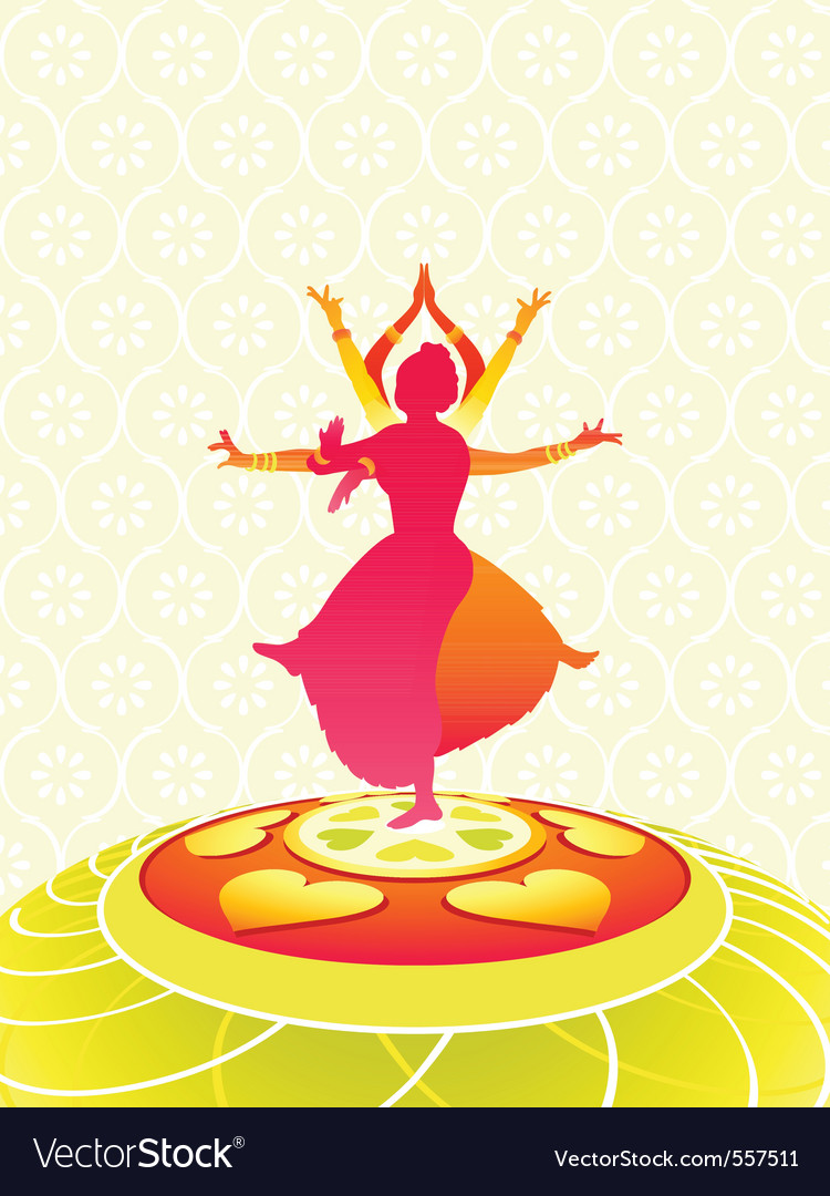 Dancing onam holiday vector