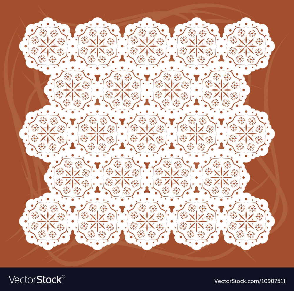 Lace mat vector