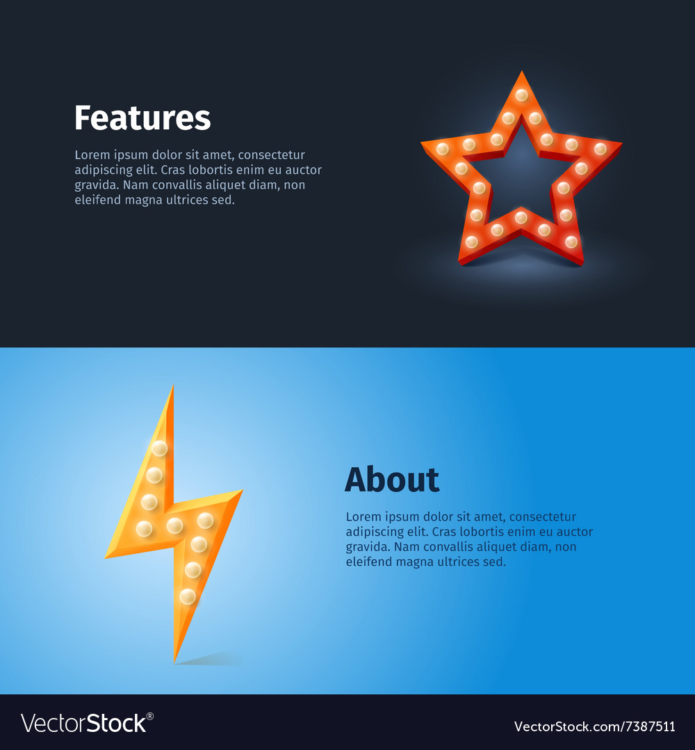 Retro lightning and star icon with quotes vector