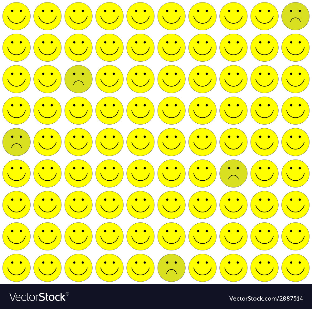 Seamless pattern with smileys background vector