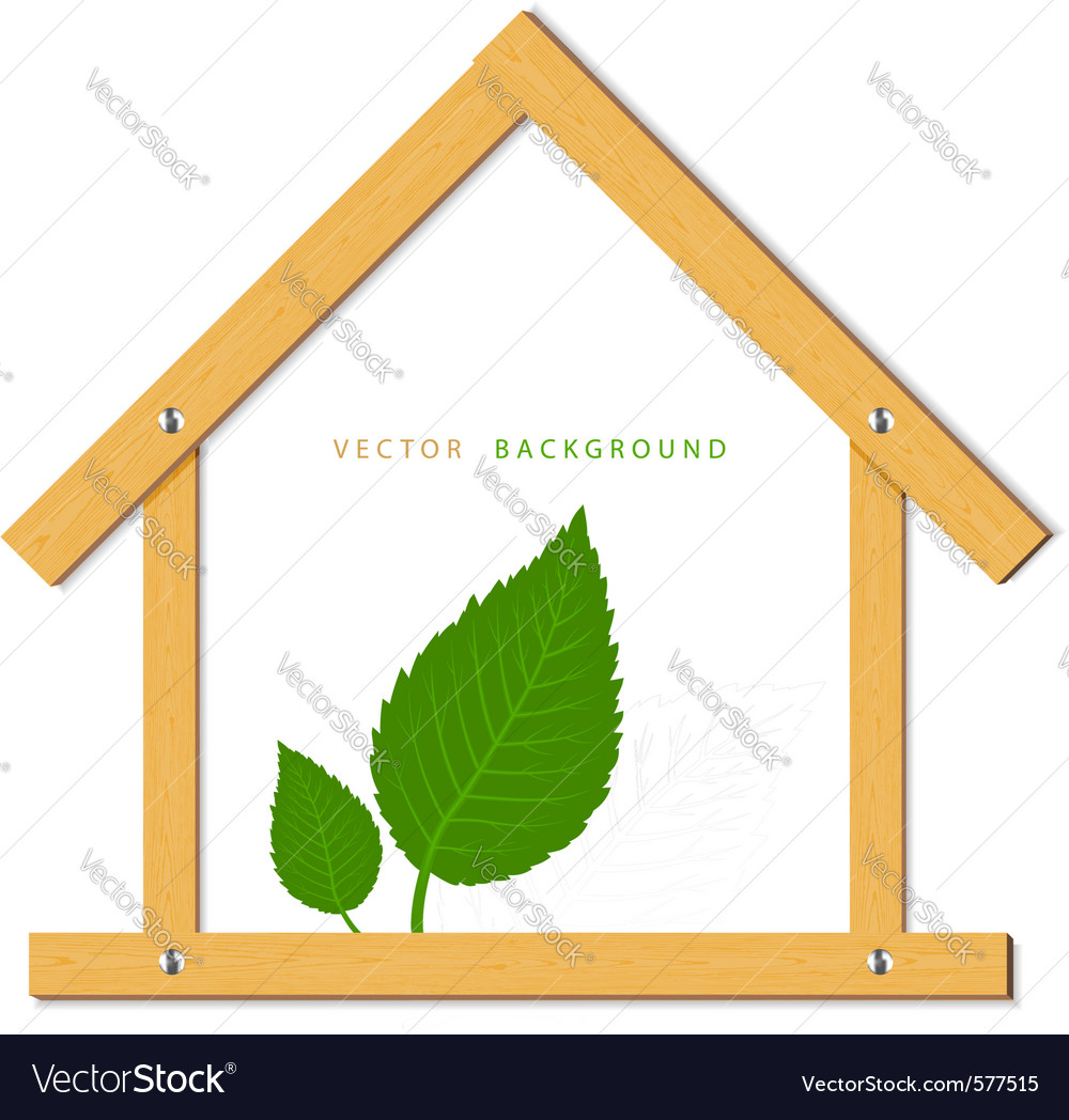 House wood vector