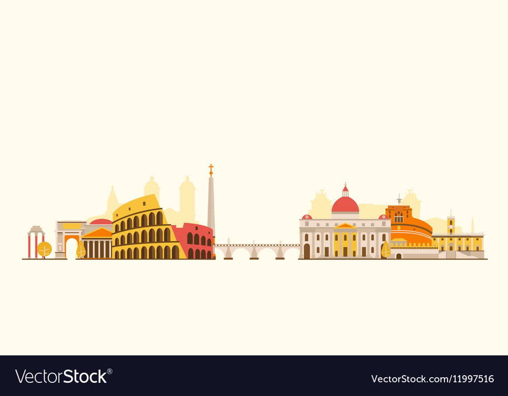 Rome abstract skyline vector