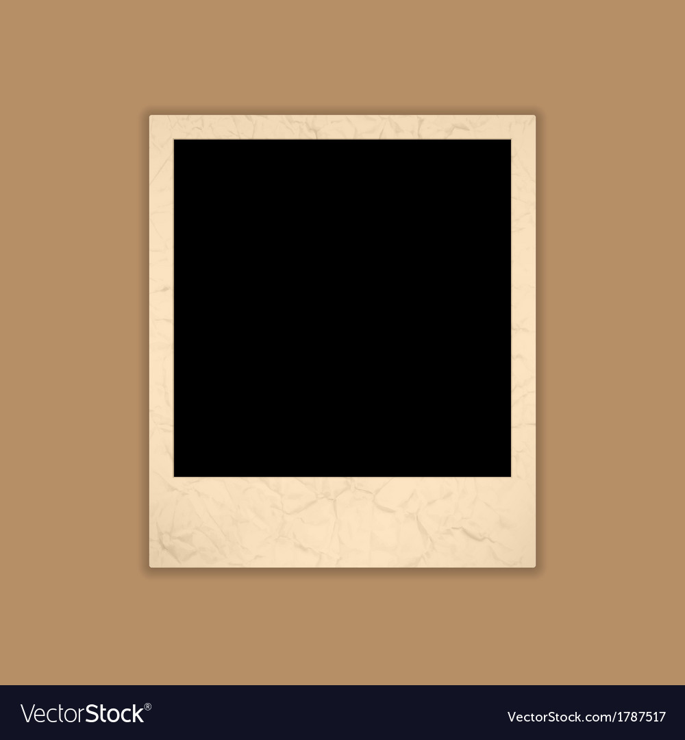 Blank grunge photo frame polaroid style vector