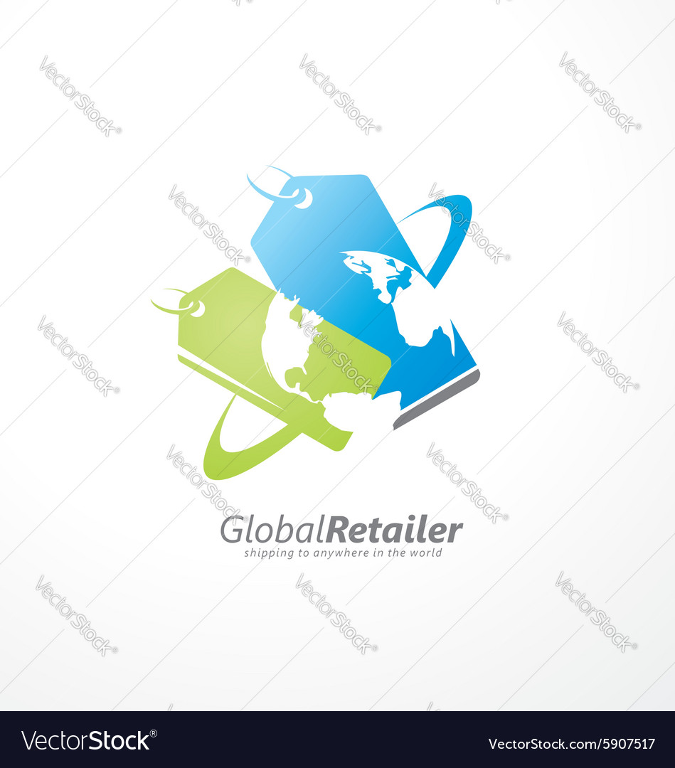 Global retailer creative symbol concept vector