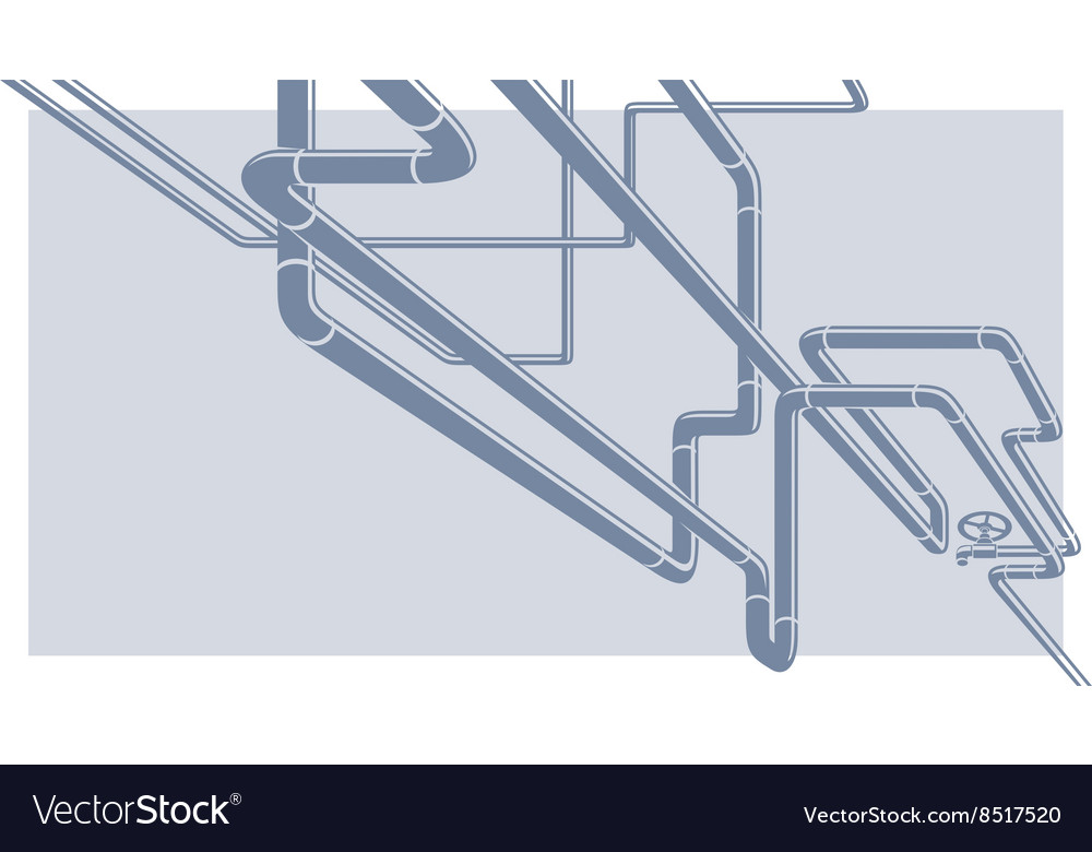 Industrial pipeline construction vector