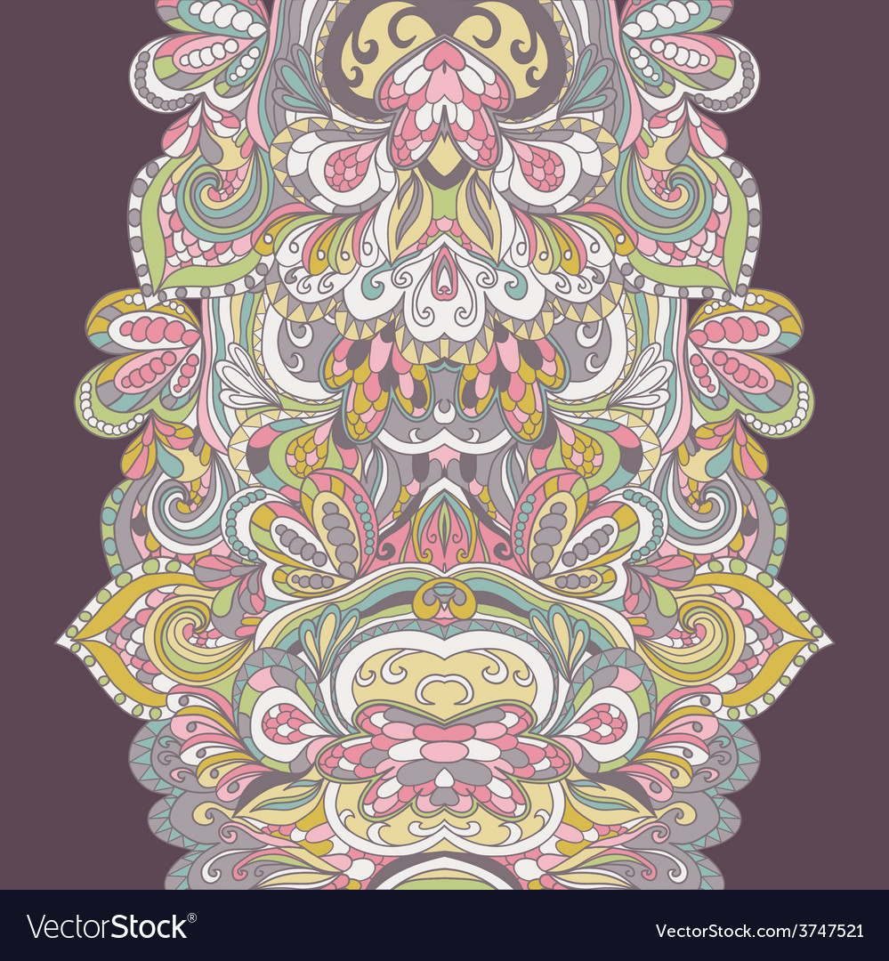 Abstract handdrawn border pattern seamless vector