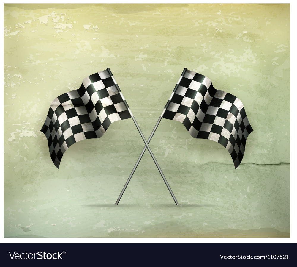 Racing flags oldstyle vector